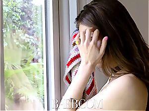 BAEB brunette Riley Reid gets her vulva torn up on 420