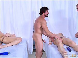 Monique Alexander and Chanel Preston love joint massage ravaging