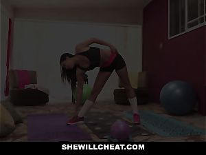 SheWillCheat cheating girlfriend Karlee Grey penetrates Trainer