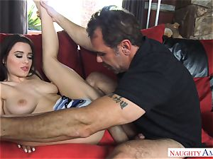 Lana Rhoades getting fucked by a thick wood