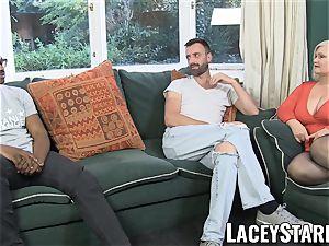 LACEYSTARR - English GILF interracially spitroasted