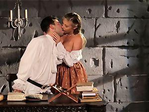 Fairytale babe Samantha Saint gets to bang her prince