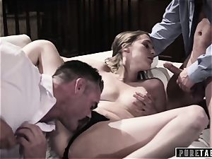 unspoiled TABOO babe Tricked Into vengeance 3 way with Strangers