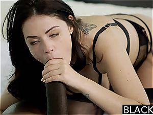 BLACKED british wife Ava Dalush luvs hefty black beef whistle!