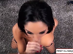 first-ever Class POV-Big bootie Ava Addams deep-throating a phat hard-on