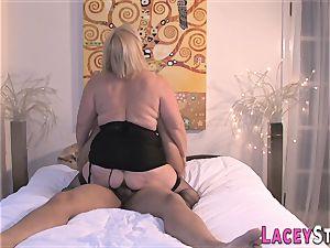 grandmother loves a massive rigid schlong in her labia