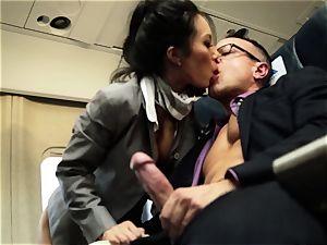 Asa Akira and her hostess buddies nail on flight