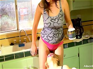 Alison Tyler and Katie Summers boink in the kitchen