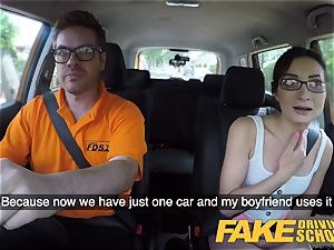 fake Driving college super-hot Italian nymphomaniac minx