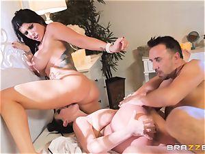 jism longing vampiress Angela milky sharing spear with Romi Rain