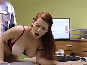 LOAN4K. busty red-haired pays with hook-up for development of her business