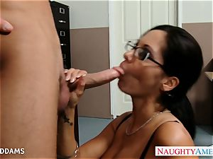 schoolteacher in glasses Ava Addams gets immense bumpers nailed
