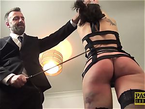 stunning british crud gagged and dommed by meaty meatpipe