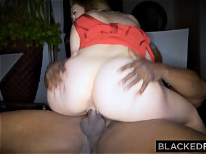 BLACKEDRAW hefty orb white doll gets double teamed by BBCs